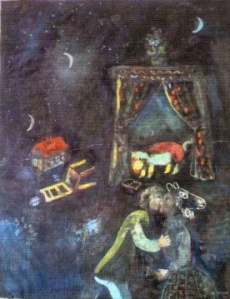 painting by Marc Chagall  found in Munich trove
